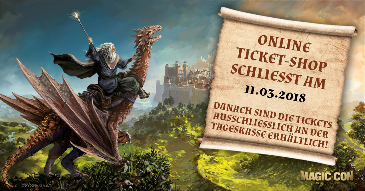 MagicCon 2 | News | Online-Ticket-Shop schließt