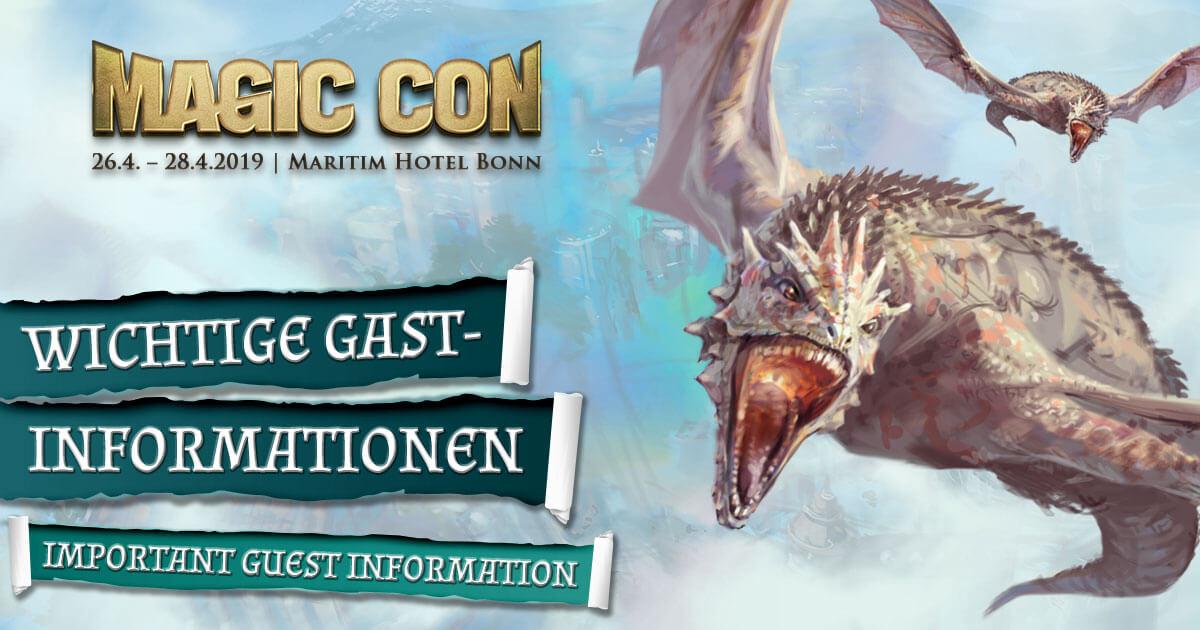 MagicCon 3 | Sonstige Infos | Wichtige Gast-Informationen