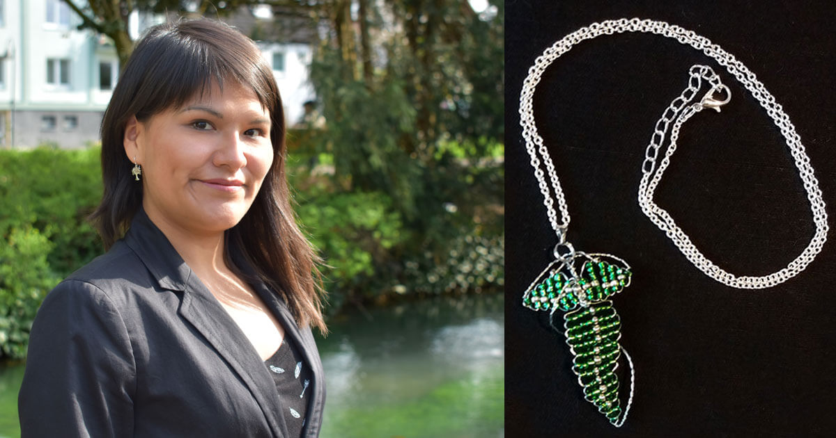 MagicCon 3 | Workshop | Fellowship leaf made of pearls - by Feliciana Mokry